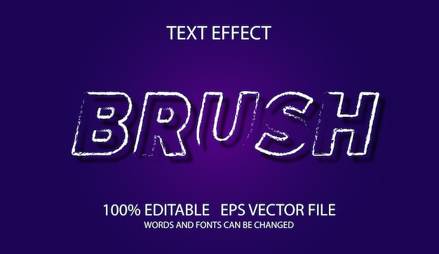 Brush 3d text style editable effect