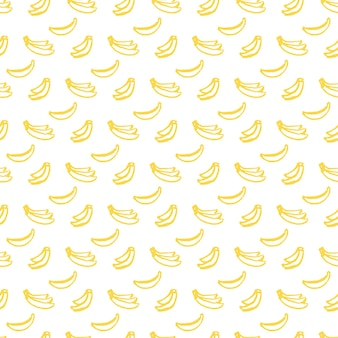 Brush banana seamless pattern. vector illustration of hand drawn paint fruit background.