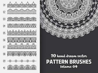 Brush collection with Mandala