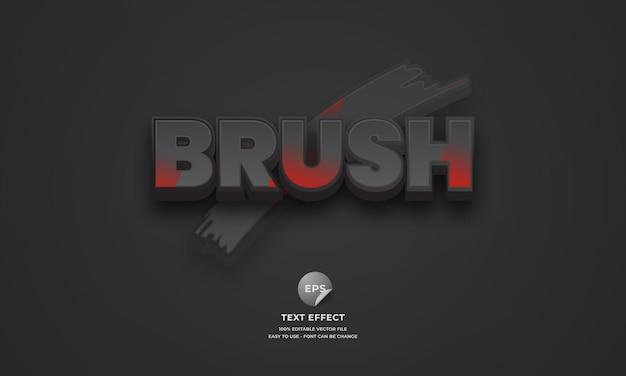 Brush editable 3d text effect