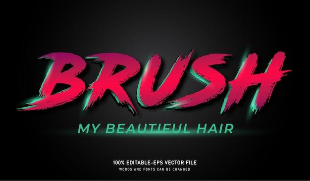 Brush my beautiful hair grunge font text effect