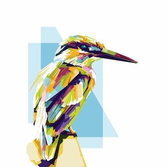 Brush painted bird