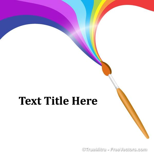 虹のペイントブラシ