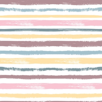 Brush pattern. pastel stripes, grunge graphic colorful seamless texture. paintbrushes for child textile swatches. ink vector background. illustration pattern brush artistic, seamless pastel