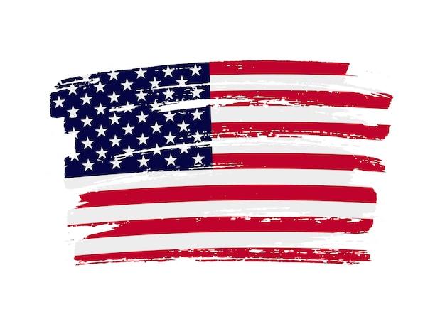 Американский флаг мазок кистью