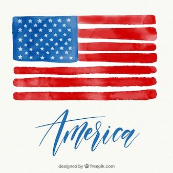 Brush stroke american flag