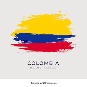 Brush stroke flag of columbia