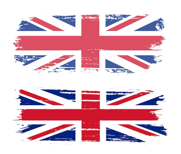 Мазок кистью флаг соединенного королевства