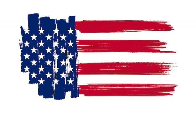Brush stroke flag of usa