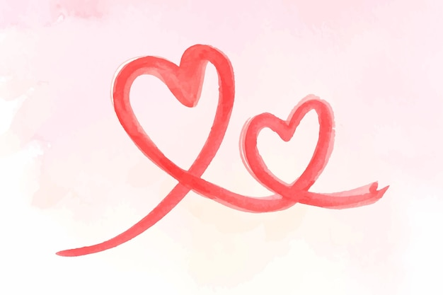 Brush stroke heart valentine's day illustration