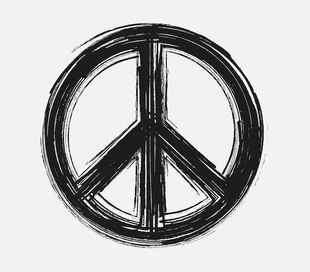 ブラシストロークの平和のシンボル