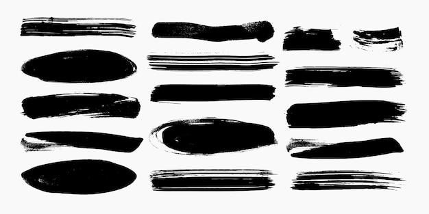 Brush stroke set