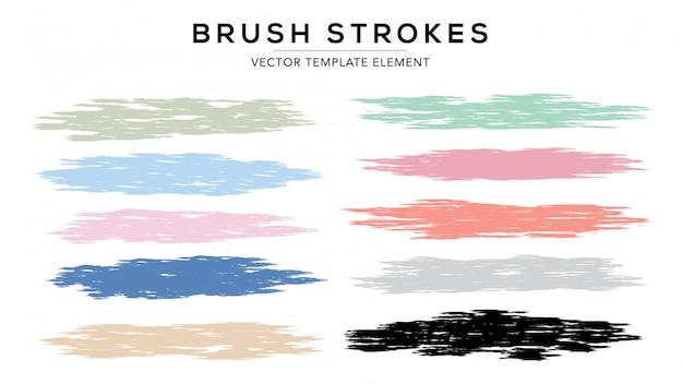 Brush stroke set