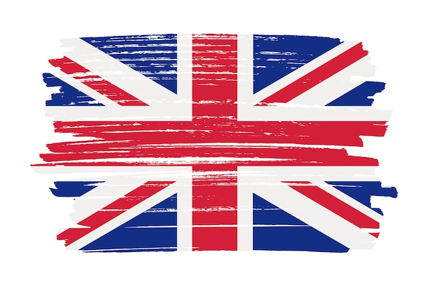 Brush stroke uk flag