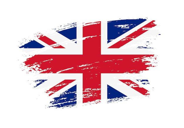 Brush stroke united kingdom flag