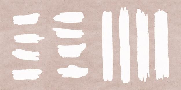 Collezione di pennellate bianche