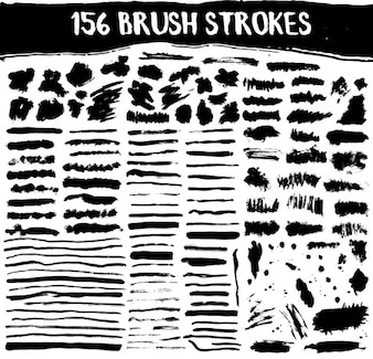 Brush strokes collection