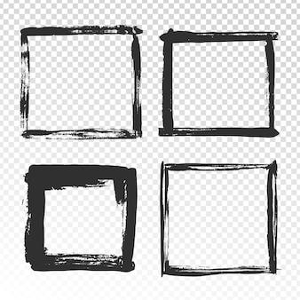 Brush strokes frame