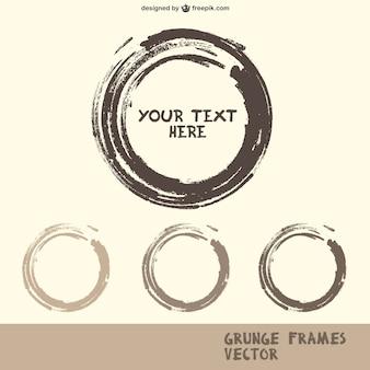 Brush strokes grunge frames in grey tones