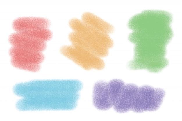 5 가지 색상의 브러시 획
