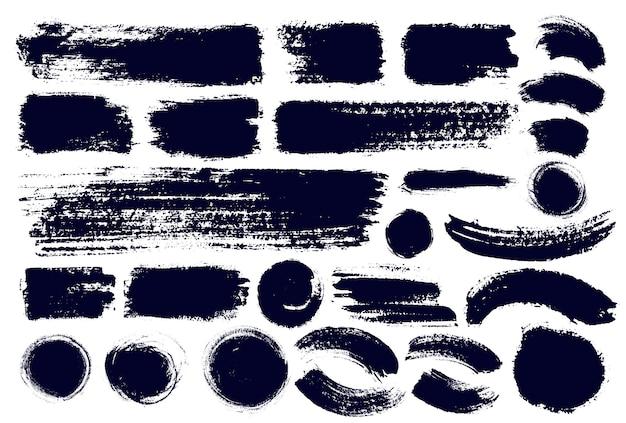 브러시 스트로크 페인트 브러시 세트.