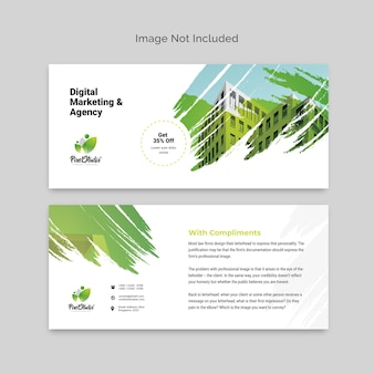 Brush style business compliment card