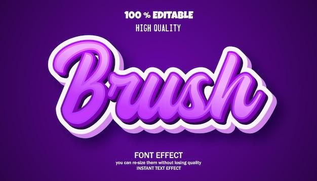 Brush text effect editable font