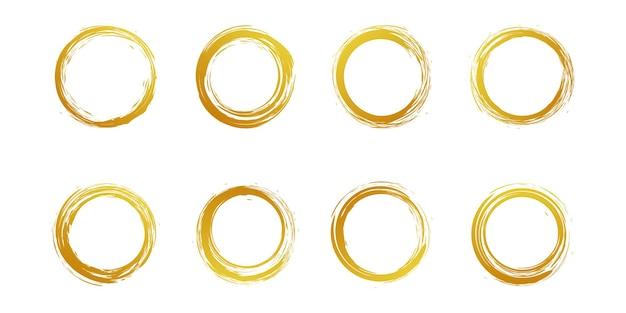 黄金の創造的な概念プレミアムベクトルとブラシベクトル