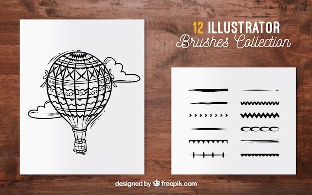 Brushes collection for illustration