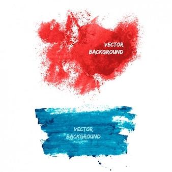 Brushes-strokes background design