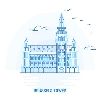 Brussels tower blue landmark