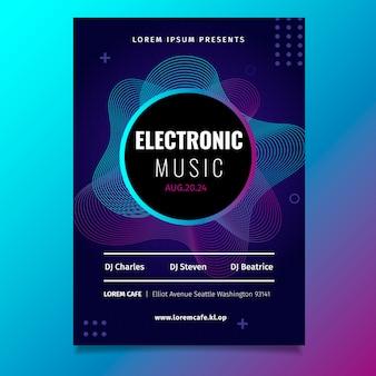 Шаблон плаката для вечеринки bstract music