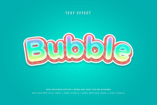 Bubble 3d text effect template