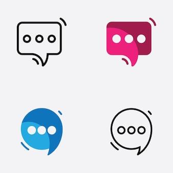 거품 채팅 로고 디자인 서식 파일