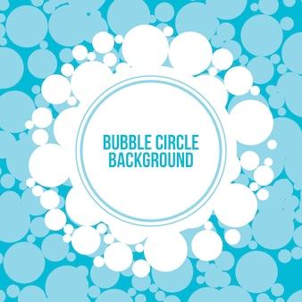 Bubble circle background vector design