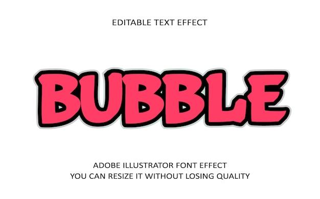 Bubble editable text effect