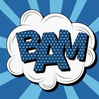 Bubble с expression bam в стиле винтаж комиксов