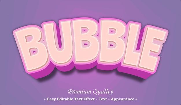 バブルフォントスタイル効果
