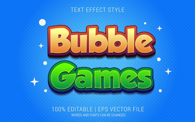Bubble games text effects style