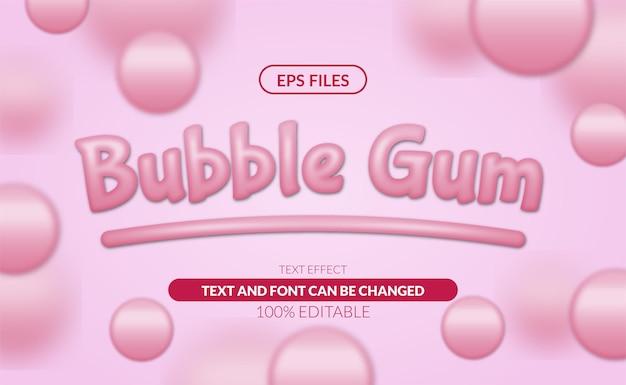 Bubble gum editable text effect