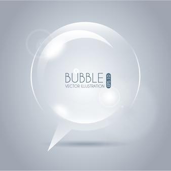 Пузырь значок круга на сером фоне векторных иллюстраций