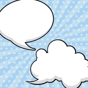 Значок пузыря значок облака на фоне земли