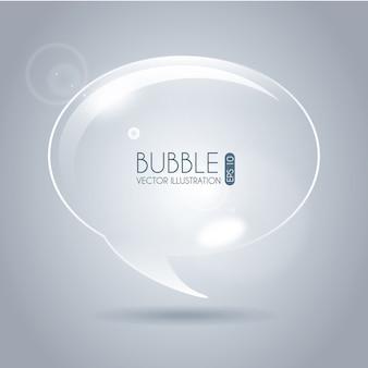 Значок пузырь овальный на сером фоне векторных иллюстраций