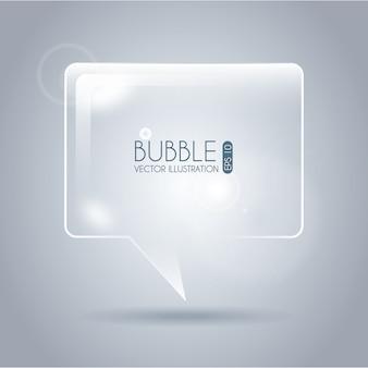 Пузырь значок квадратный дизайн на сером фоне