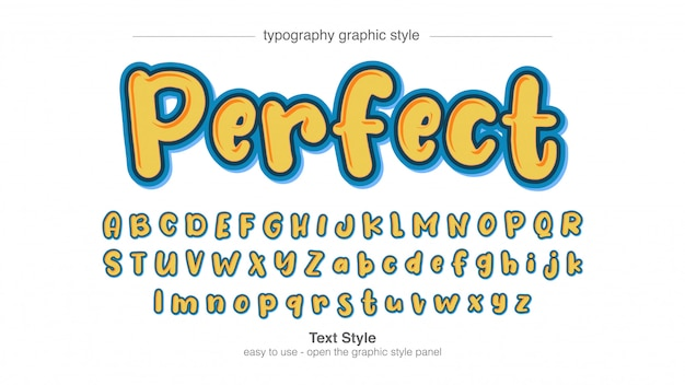 Bubble irregular cartoon typography style