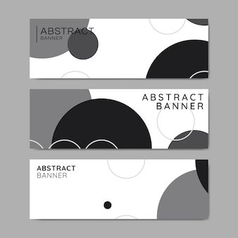 Bubble patterned banners