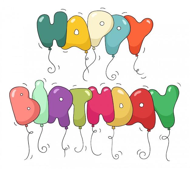 Bubble shaped phrase - happy birthday