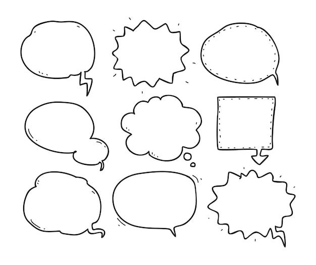 Bubble speech doodle