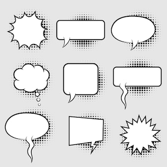 Bubble speech with halftone