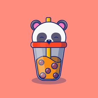 Bubble tea drink illustration design